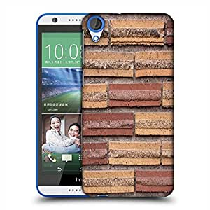 Snoogg Wall Bricks Designer Protective Phone Back Case Cover For HTC Desire 820