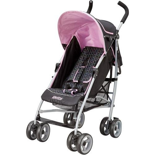 Delta Ultimate Convenience Stroller with Cup Holder -Black Pink JPMA Certified - 1