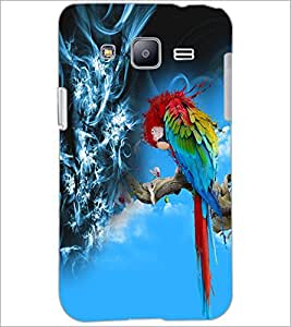 PrintDhaba Colourful Parrot D-5039 Back Case Cover for SAMSUNG GALAXY J2 (Multi-Coloured)