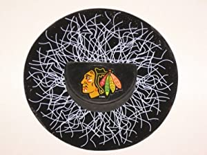 CHICAGO BLACKHAWKS Shatter Puck WINDOW CLING Decal