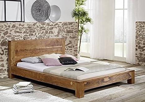 Akazie massiv Holz honig Möbel Bett 180x200 Massivholz Massivholzmöbel Massivmöbel Shaman #204