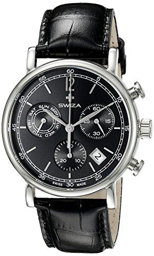 Swiza Men's WAT.0153.1004 Alza Analog Display Swiss Quartz Black Watch