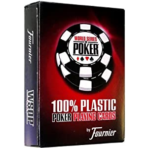 Fournier WSOP Poker Size Jumbo Index Playing Cards (Red)