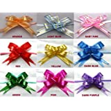 10 Pull Ribbon Bows RED (Size 12) Ideal Weddings ~ Party ~ Celebrations ~ Decoration ~ Gift