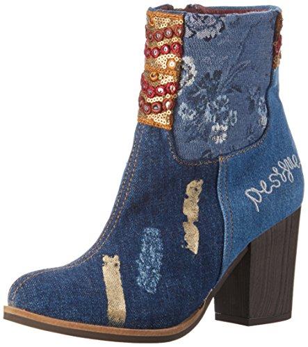 Desigual Denim Patch Folk, Stivali corti Donna, Blu (Jeans 5006), 41 EU