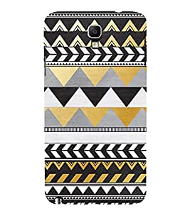Zig Zag Pattern Design 3D Hard Polycarbonate Designer Back Case Cover for Samsung Galaxy Note 3 Neo N7505