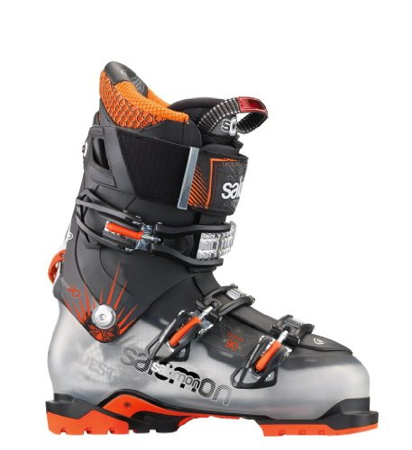 Salomon Quest 90 Mens Ski Boots All Mountain Freeride Touring - New 2013 (Mondo Point 28, Crystal Translucent/black)