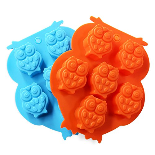 Candy Making Molds, 2PCS YYP [6 Cavity Night Owl Shape Mold] Silicone Candy Molds for Home Baking - Reusable Silicone DIY Baking Molds for Candy, Chocolate or More, Set of (Homemade Halloween Candy For Kids)