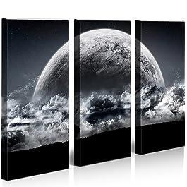Bilder auf Leinwand New Moon Kunstdruck XXL Bild Poster Leinwandbilder Wandbilder