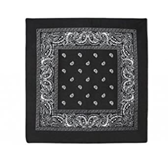 Paisley Cotton Bandanas BLACK