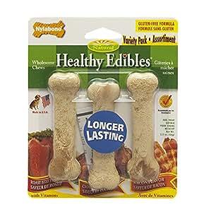 Nylabone Healthy Edibles Petite Variety Pack, Triple Pack
