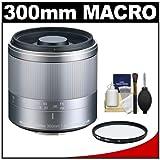 Tokina 300mm f/6.3 Reflex MF Macro Lens with Filter + Cleaning Kit for Olympus OM-D E-M5, PEN E-P2, E-P3, E-PL2, E-PL3, E-PM1 & Panasonic Micro 4/3 Digital Cameras