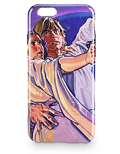 Disney Parks Exclusive Star Wars Luke and Leia iPhone 6 6s D-Tech Hard Plastic Phone Case