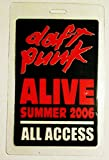 2006 Daft Punk Alive Tour Laminated Backstage Pass All Access