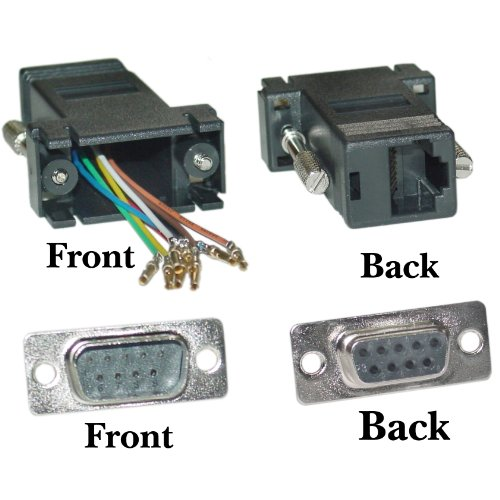 Gadko Modular Adapter, Black, Db9 Male To Rj45 Jack