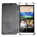 Heartly Dot View Touch Sensative Flip Thin Hard Shell Premium Bumper Back Case Cover For HTC Desire 826 - Rugged...