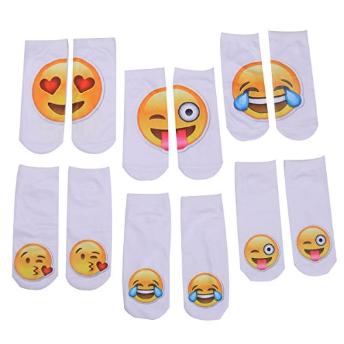 Zmart Funny Chat Emoticon Crew Socks Lovely Facial Expressions Short Socks,Multicoloured,US 5-9 (Teen Girl Clothes Cheap compare prices)