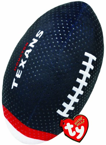 Ty Beanie Ballz NFL RZ Houston Texans Football Plush - 1