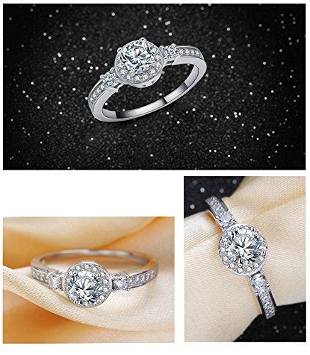 b z la vie bague femme taille 56 5 argent fin anneaux de mariage oxydes de zirconium blanc. Black Bedroom Furniture Sets. Home Design Ideas