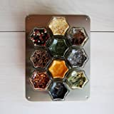 "METAL WALL PLATE. Magnetic Spice Rack Wall Mount, Stainless Steel 6"" X 8"" Metal Plate (Jars NOT Included)."