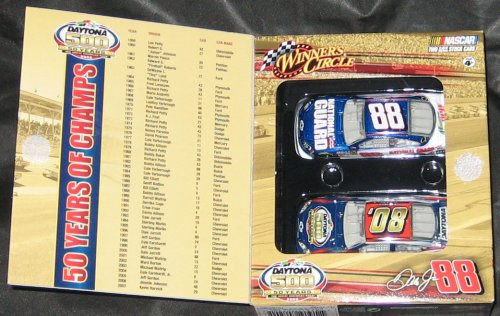 NASCAR Winner's Circle 2008 Daytona 500: 50 Years Limited Edition Two Car Set: Dale Earnhardt Jr #88 National Guard - 1