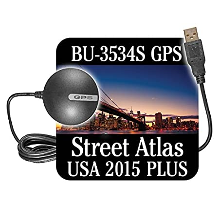 DeLorme US Software BU-353S4 with Street Atlas USA 2015 Plus