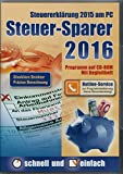 Software - Steuer-Sparer 2016 (Glasklare Struktur - Pr�zise Brechnung) - Steuererkl�rung 2015 am PC