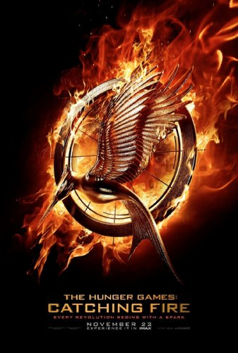 "Hunger Games Catching Fire FATHEAD Official Movie Logo Katniss Everdeen Vinyl Wall Graphic 36""x24"""