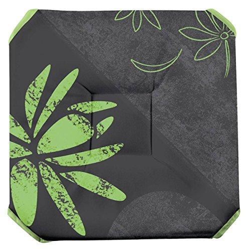 Galette de chaise anti-taches à rabats - Lotus anis