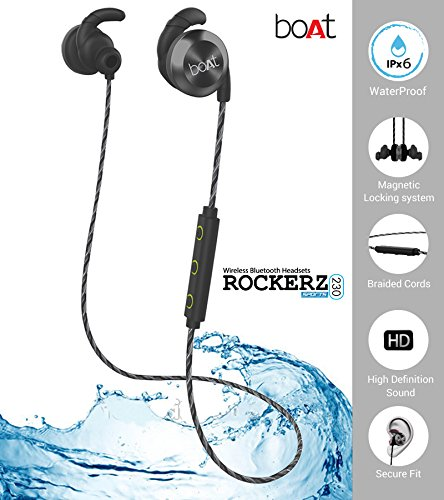 Buy Boat Rockerz 230 In Ear Bluetooth Headphones With Mic Silver Green On Amazon Sale Price Paisawapas
