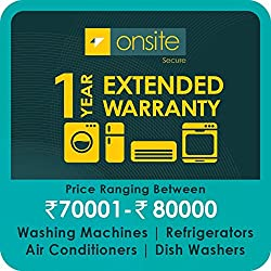 Onsite 1-year extended warranty for Large Appliance (Rs. 70001 to < 80000)