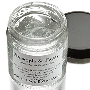 Pineapple and Papaya Organic Gentle Exfoliating Enzyme Mask for All Skin Types 4 oz by Angel Face Botanicals