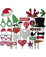 SUNNOW 27 PCS Wedding Christmas Hat Mustache Antlers Within Interesting Photo Booth Props
