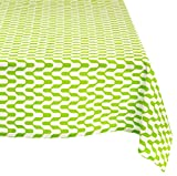 "Mahogany P108T9 Rectangle ""Jude"" Printed Tablecloth, 60 by 90-Inch, Green"
