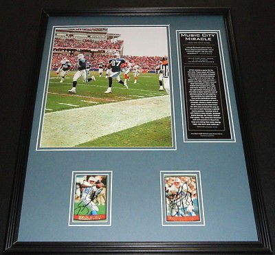 Kevin Dyson & Frank Wycheck Signed Framed 16X20 Music City Miracle Photo Display front-611297
