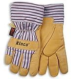 Kinco 1927 Thermal Heatkeep Lined Grain Pigskin Leather Glove, Work, X-Large, Palomino (Pack of 6 Pairs)