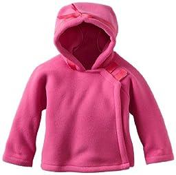 Widgeon Unisex Baby Fleece Wrap Jacket, Bright Pink, 12 Months