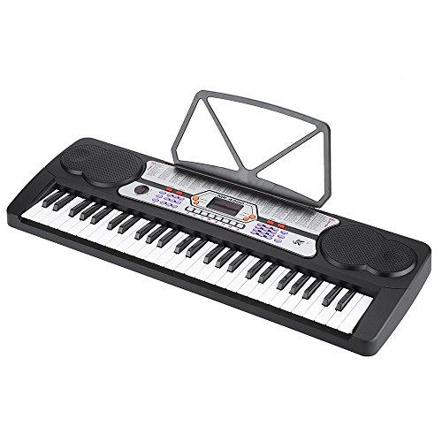 ammoon-54-Teclas-Pantalla-LED-Msica-Electrnica-Digital-Teclado-de-Piano-rgano-Elctrico-Titular-con-la-Hoja-de-Msica-del-Micrfono