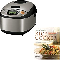 Zojirushi NSLAC05XT 3-cup Rice Black Stainless Steel Cooker/Warmer Bundle