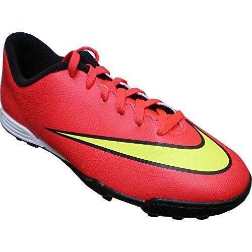 Nike JR Mercurial Vortex II TF Stivali, Blu/Rosa/Argento, 38