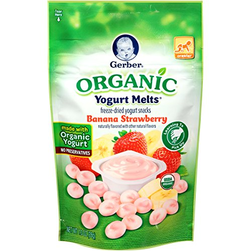 Gerber Organic Yogurt Melts Fruit Snacks, Banana and Strawberry, 1 Ounce (Pack of 7) (Fruit And Yogurt Snacks compare prices)