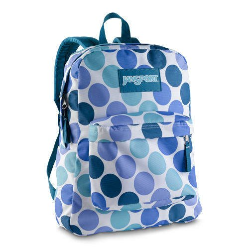 Amazon.com: JanSport Superbreak Blue Purple Polka Dots Spots School