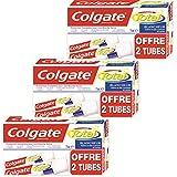 Colgate Total 276519 Bi-Pack Blancheur Dentifrice 2 x 75 ml Lot de 3