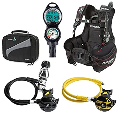 Cressi BCD Regulator with Octo Dive Computer Console Scuba Package
