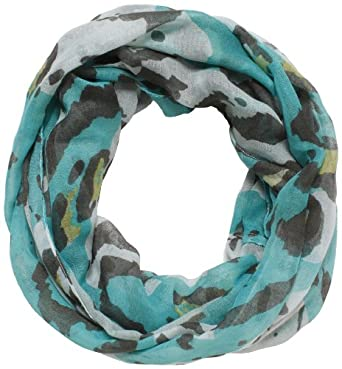 D&Y Women's Soft Leopard Animal Print Scarf, Blue, One Size
