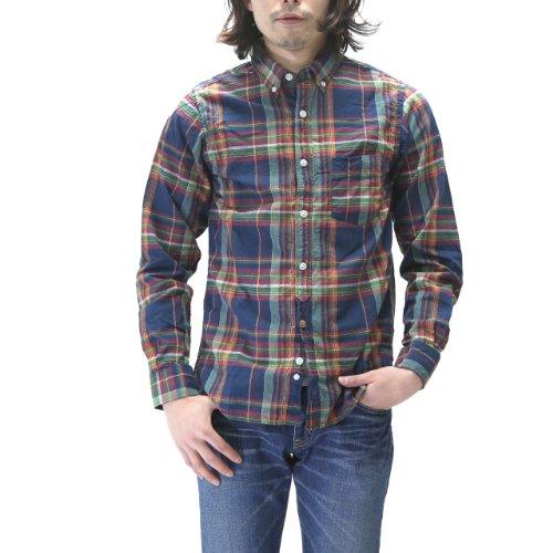 (スペルバウンド)SPELLBOUND チェックボタンダウンシャツ BDシャツ 46-066X (4(XL), 28・ネイビー)