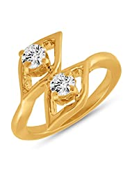 Mahi With Swarovski Zirconia Solitaire Drop Kite Gold Plated Finger Ring For Women FR1105040G