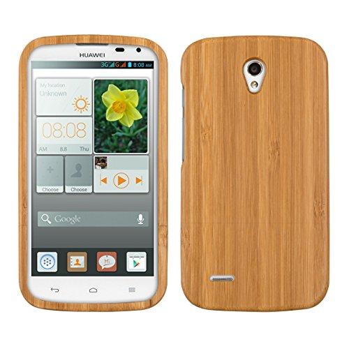 kwmobile custodia in bambù naturale per il Huawei Ascend G610 in marrone chiaro