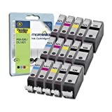 Canon Pixma MP640 - 15 Compatible Printer Ink Cartridges - Cyan / Magenta / Yellow / Black - Premium Multipack - Fully Chipped and Ready for Use**by Printer Ink Cartridges**