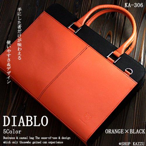 DIABLO ビジネスバッグ ショルダーバッグ 【オレンジ×ブラック】KA-306